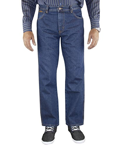Mens Wrangler Regular Fit Denim Jeans Dark Stone 38 waist 32 Leg