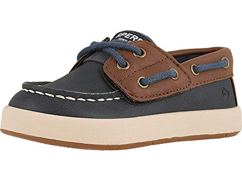 SPERRY Kids Baby Boy's Cruise Boat Jr (Toddler/Little Kid) Navy/Brown 8 M US - Boat Toddler