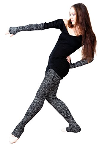 f97697d321887 Charcoal Super Long 40 Inch Leg Warmers Stretch Knit KD dance New ...