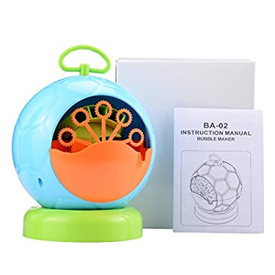 Bubble Machine,HANGRUI Automatic Portable Bubble Blower with Football Shape for Kids Barbecue Parties Ball Wedding