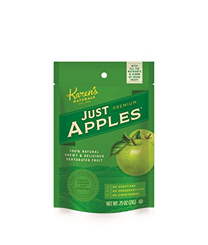 Just Apples - Karen's Naturals Just Apples, 0.75 Ounce Pouch (Pack of 12) All Natural Freeze-Dried Fruits & Vegetables, No Additives or Preservatives, Non-GMO