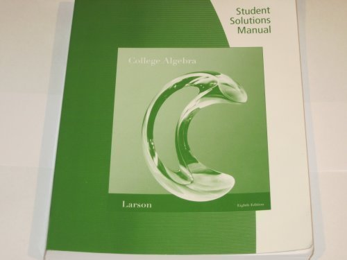 Student Solutions Manual for College Algebra, 8th edition