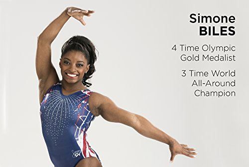 Simone Biles Firecracker Gymnastics Leotard - Blue - Adult Small
