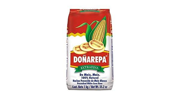Doña Arepa, Harina Blanca De Maiz Doña AREPA y Harina Amarilla de Maiz Doña AREPA (Amarilla, maíz) - 1000 gr.: Amazon.es: Alimentación y bebidas