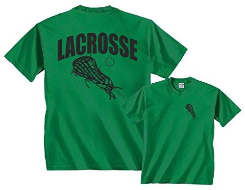 Fair Game Lacrosse Arch Sticks lax T-Shirt-Kelly Green-M