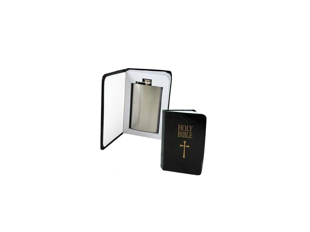 Holy Bible 4 oz Flask: Secret Compartment UTD