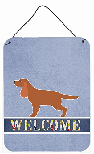 Caroline's Treasures BB5516DS1216 English Cocker Spaniel Welcome Metal Print, 16 x 12, Multicolor