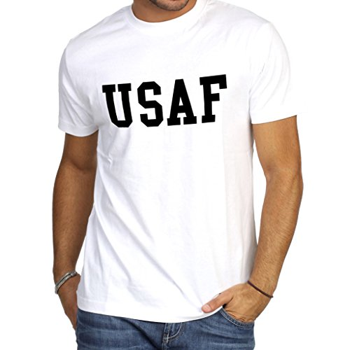 - Tuyiku USAF Pilot Air Force Veteran Cotton Crewneck Gray White Short Sleeve T-Shirt M01WM814