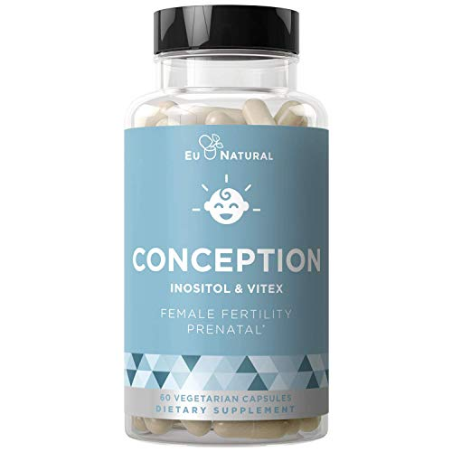 Conception Fertility Prenatal Vitamins - Regulate Your Cycle, Balance Hormones, Aid Ovulation - Myo-Inositol, Vitex, Folate Folic Acid Pills - 60 Vegetarian Soft Capsules