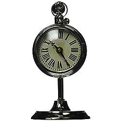 Uttermost Pocket Watch Nickel Marchant Cream Wall Clock