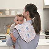 "aden + anais Classic Burpy Bib; 100% Cotton Muslin; Soft Absorbent 4 Layers; Multi-Use Burp Cloth and Bib; 22.5"" X 11""; Trail Blooms; 2 - Pack"