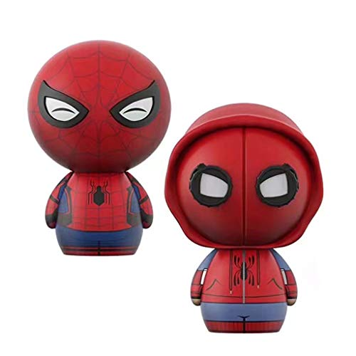 DUDDP Animetoys 2pcs Cartoon Character Decoration Smiley Face Deadpool Spiderman Model Toy Cartoon Character Decoration Character Role Statue PVC Model 8CM Anime -