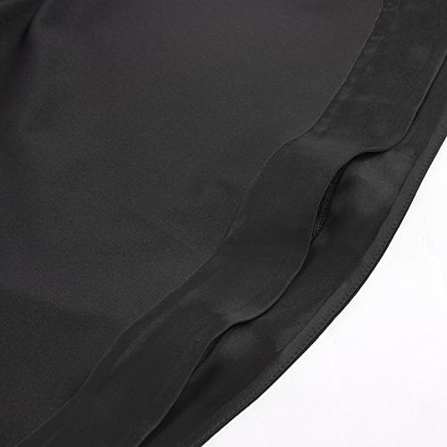 Noir Longsleeve Polyester Haut Gothique Chemisier Mesdames Belle Poque 1 Bp510 qPv4nt