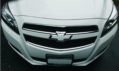 Malibu Emblem (Reflective Concepts Bowtie Emblem Overlay Decals | Front and Rear - 2013-2015 Chevrolet Malibu - (Color Gloss Black))