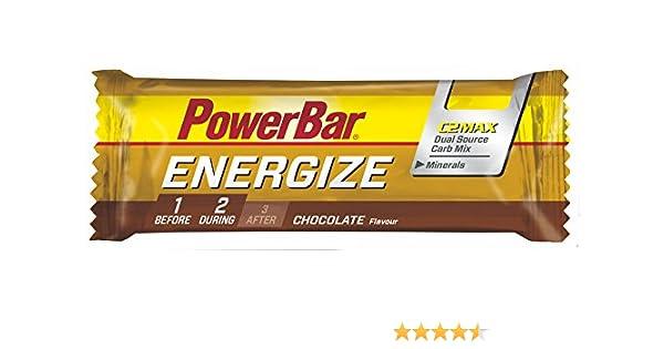 Barrita Energética Energize PowerBar 12 X 55g Chocolate: Amazon.es: Salud y cuidado personal
