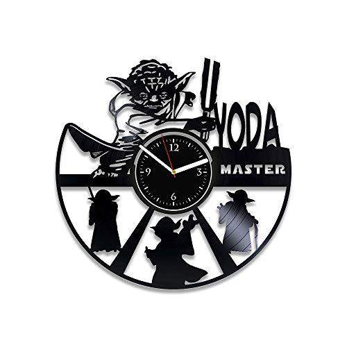 RainbowClocks Yoda Star Wars Clock Star Wars Vinyl Wall Clock Star Wars Vinyl Clock New Year Gift Star Wars Vinyl Record Clock Gift For Man Xmas Gift Star Wars Wall Clock Large Handmade Clock