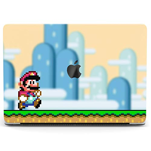 Wonder Wild Case for MacBook Air 13 inch Pro 15 2019 2018 Retina 12 11 Apple Hard Mac Protective Cover Touch Bar 2017 2016 2015 Plastic Laptop Print Mario Game Super Funny Cute Funky Adventure Retro ()
