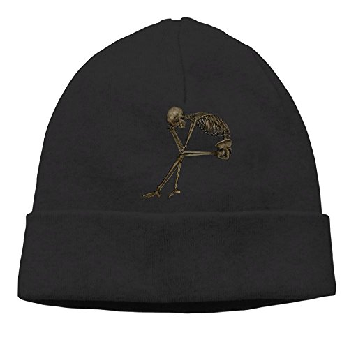 NO4LRM Men Women Red Fox Warm Stretchy Solid Daily Skull Cap Knit Wool Beanie Hat Outdoor Winter