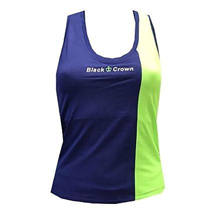Camiseta Padel Black Crown Mujer Berna Marino/verde-L