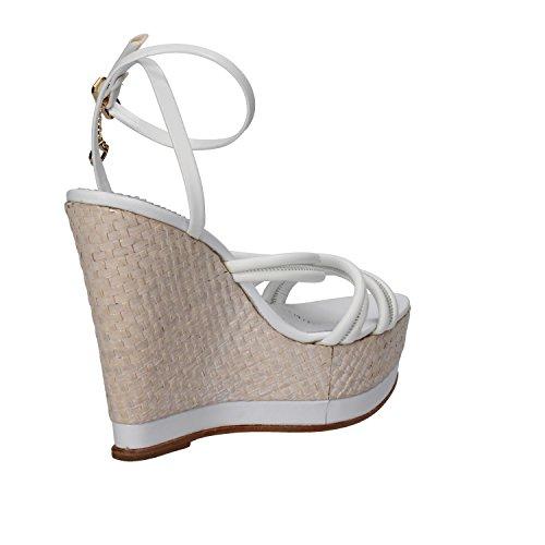Zapatos mujer BRACCIALINI Sandalias blanco cuero AH382
