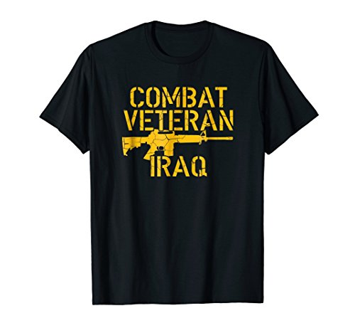 Combat Veteran Iraq T-Shirt For Proud American Vets