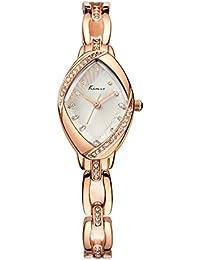 Women's Rose Gold Bracelet Watches Ladies Luxury Rhinestone Analog Quartz Watch Fashion Dress Wrist Watches for...