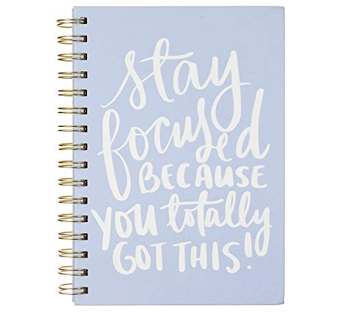 - Dayna Lee Collection 6x8 Wirebound Hard Cover Notebook, 200 Pages, Acid-free Lined Sheets, Stay Focused
