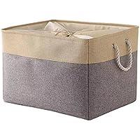 CAREMOST Large Storage Basket for Organizing, Collapsible Fabric Basket for Shelves, Closets, Laundry, Nursery…