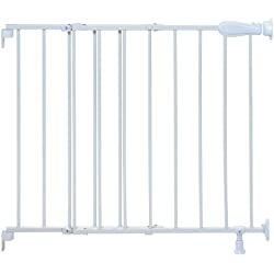 Summer Infant Top of Stairs Simple to Secure Metal Gate, White