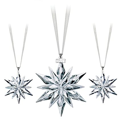 Swarovski 2011 Christmas Ornament (Set of 3) - Amazon.com: Swarovski 2011 Christmas Ornament (Set Of 3): Home & Kitchen