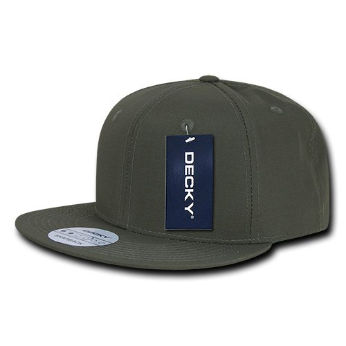 (DECKY Rip Stop Snapback Cap, Olive Drab)