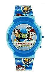 Paw Patrol Blue Flashing Lights Digital LCD Boys Watch Chase Marshall