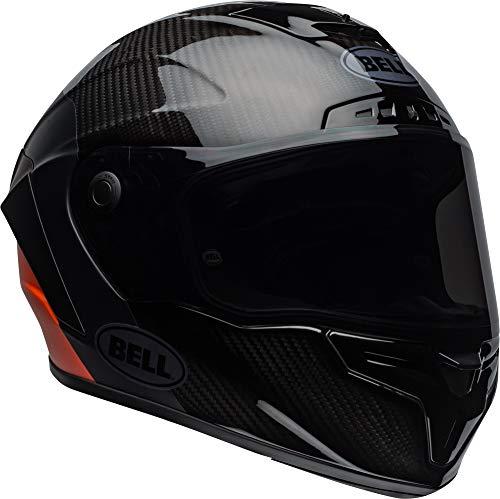 Bell Race Star Full-Face Motorcycle Helmet (Lux Matte/Gloss Black/Orange, Medium)