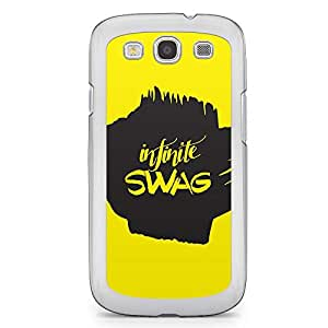 Inspirational Samsung Galaxy S3 Transparent Edge Case - Infinite Swag