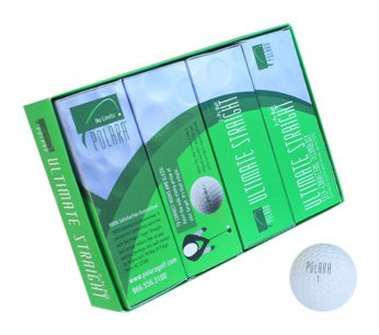 Polara Ultimate Straight Self Correcting 2 Piece Golf Balls (1 Dozen), Outdoor Stuffs