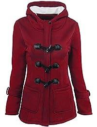Clearance!!! Womens Winter Outwear, Fashion Women Windbreaker Outwear Warm Wool Slim Long