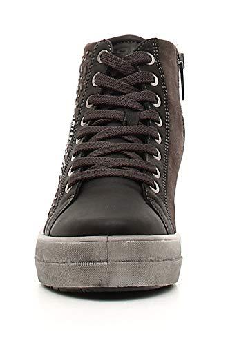 Collo Dsy grigio amp;co Donna Grigio Igi Scuro Alto Sneaker 722 A wZq5xAgI