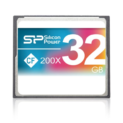 Silicon Power 32GB Hi Speed 200x Compact Flash CF card by Silicon Power