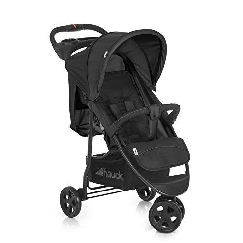 Hauck Citi Neo II - Silla de paseo de 3 ruedas, respaldo reclinable, plegado compacto, plegado con solo una mano, nacimiento hasta 25 kg, ultra ligero, solo 7.5 kg, bandeja con botellero, negro/gris a buen precio
