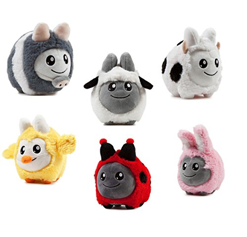 Plush Little Ladybug (kidrobot Labbit Springtime Littons Set of 6 : Cow Pig Bunny Ladybug Chick Lamb)