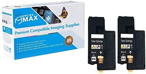 2//PK-2000 Page Yield SuppliesMAX Compatible Replacement for Dell 1250C//1350CNW//1355CN//C7160//C1765 Black Toner Cartridge 810WH/_2PK