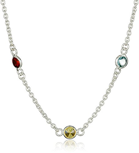 Sterling Silver Multi Color Zirconia Necklace