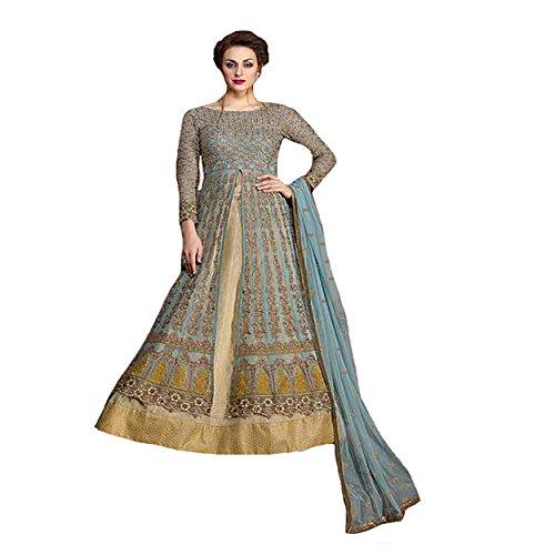 Eid Muslim Gown Ethnic Designer Women Hijab Indian Anarkali Salwar Kameez suit 8846