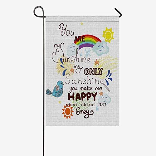 INTERESTPRINT Inspirational Valentine Day Love Coffee Mug, You are My Sunshine Decorative Flag Garden Flag House Banner for Wishing Party Wedding Yard Home Decor 12