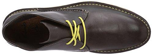 Clarks Darning Hi - zapato botín de cuero hombre gris - Grau (Grey Leather)