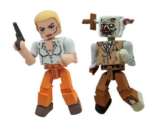 Diamond Select Toys Walking Dead Minimates Series 2: Andrea and Stabbed Zombie, 2-Pack by Diamond Select