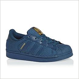 adidas Superstar Nylon Bleu Marine Enfant Bleu 28 : Amazon.fr ...