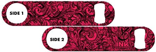 Killer Inked Bottle Opener: Floral - Hot Pink