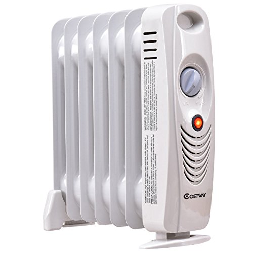 """COSTWAY Oil Filled Radiator Heater Mini Portable Electric Room Thermostat 700W (14"""" Height) by COSTWAY (Image #2)"""