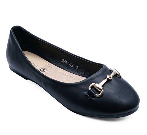 3 Womens Work Shoes Black 8 Flat On Ballerina School Sizes Ballet Slip Pumps Wedding 7w7SUrHq